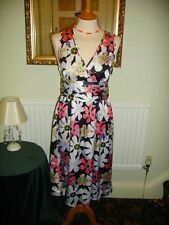 Laura Lees for Topshop size M Navy Floral Tea Style Dress £45 BNWT Embroidery