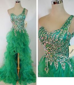 NWT Party Time Formals 6007 JADE Pageant Gown 4