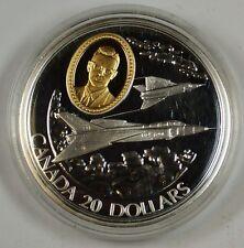 1996 Canada $20 Proof Silver Commem. Coin, Flight In Canada, The CF-105 Arrow