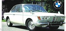 BMW 2000 CS SPEC SHEET / Brochure / Prospekt: 1965,1966,1967