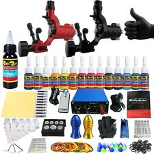 Solong Tattoo Complet Kit de Tatouage 2 Rotary Machine à Tatouer Encre TK203-16