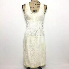 Miu Miu Dress 44 US 8 Cream Ivory Babydoll Corset Quilted
