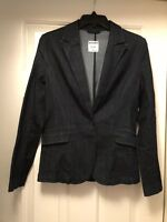 OLD NAVY LIGHTWEIGHT DENIM LOOK CASUAL DARK RINSE BLAZER JACKET XS