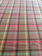 Gray Plaid Fleece Anti Pill Fabric 2 Yard Piece