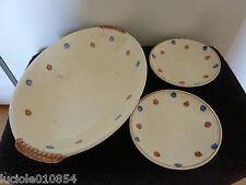Plat creux ovale  + 2 petites assiettes SARREGUEMINES FRANCE