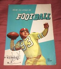 1959 How To Star In Football Scholastic Book, Herman L Masin