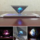 NEW HOLOGRAPHIC PROJECTOR MOBILE SMART PHONE HOLOGRAM 3D FOR IPHONE SAMSUNG UK