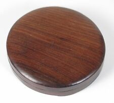 Chinese scholar's table round lidded ink stone box.18th / 19th century. Provenan