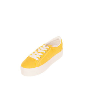 RRP €120 FLORENS Canvas Sneakers Size 40 UK 7 US 10 Two Tone Stitched Flatform