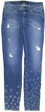 "Authentic Guess Women's Distressed Embroidered Jeans Size 26"" Inseam 27"""