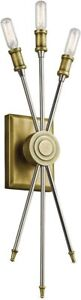 Kichler 42203NBR Doncaster Wall Sconce, 3 Light Incandescent 120 Total Watts