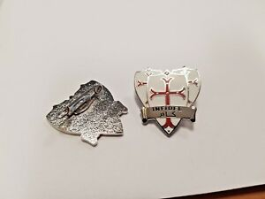 Knights Templar 3 Shields Infidel Enamel Pin Badge