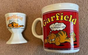 Vintage Garfield Mug I Love Mornings! Jim Davies Made in England 1990s