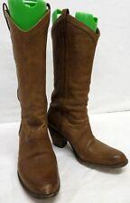 Women's Frye Beige Soft Leather Western Style Boots Size 8.5B