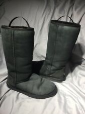 UGG Australia Womens 5815 Classic Tall Suede Boot Black Suede Size 8