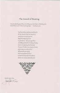 Jane Yolen Signed Limited Edition Poetry Broadside - 'The Sound of Beating'