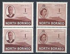 North Borneo 1950-54 Sc# 244/261 George Elizabeth pairs MNH