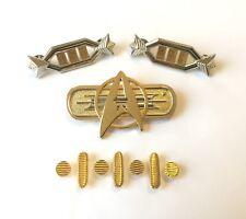 Star Trek Movie Uniform Full Set of Pins for a Captain