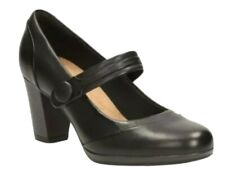 CLARKS BRYNN MARE BLACK LEATHER MAY JANE SHOES . BNIB UK Size 6 D EUR 39.5