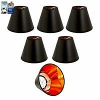 """CANDLE SIZE 5.5/"""" CHANDELIER LAMPSHADES CLIP ON PENDANT WALL LIGHT COOLIE SHADE"""