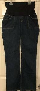 Old Navy Women's Stretch Denim Dark Wash Skinny Maternity Jeans - S