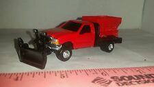 1/64 CUSTOM ERTL farm toy ford f350 vee snow plow blade pickup truck bed sander