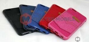 TPU Jeans pocket cash card slots Slim Back case cover for iPhone Samsung Models