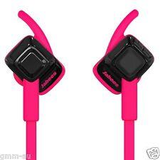 Jabees Beating Bluetooth Wireless Sweatproof Sports HD Stereo Headphones Pink