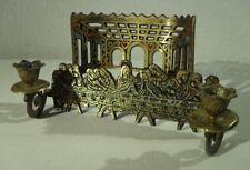 alter Kerzenhalter DAS LETZTE ABENDMAHL Messing Kerzenständer Jerusalem Jesus