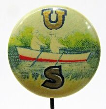 early U. S. ROWING Stanford? Crew? CELLULOID pinback button c. 1910  a2