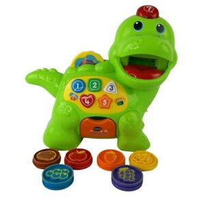 Vtech Feed Me Dino Dinasour Toy Baby Toddler Kids 1-4 Years Electronic - VGC