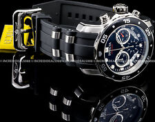 Invicta 21927 Pro Diver Scuba Chronograph Black Dial Silver Polyurethane Watch