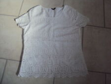 Marks & Spencer (M&S) Autograph White Cotton Short Sleeve Blouse, Size 12