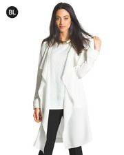 WOMENS TOPS JACKET CLOTHING 3/4 TRENCH COAT SALE NWT ORG $189 WHT XS - S - M