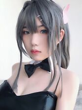 Rascal Does Not Dream bunny Girl Sakurajima Mai Cosplay Perücke Wig Perruque