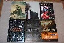 6 STEELBOOK LOT Far Cry 2, Hitman, Warhammer, Killing Floor, Britannia  - G1