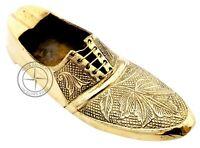 Vintage Handmade Brass Shoe Ashtray Nautical Engraved Smoking Ash Tray