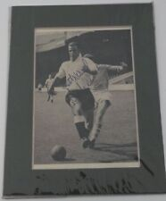"""JOHN CHARLES - LEEDS UNITED 1950'S  SIGNED PICTURE - 6"""" x 5"""" MOUNT - WALES STAR"""