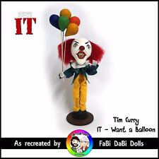 Tim Curry - want a Balloon : PennyWise the Clown Stephen King IT FaBi DaBi Doll