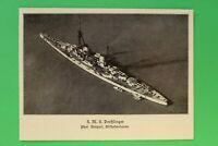 UM2) Marine S.M.S. DERFFLINGER 1914-1918 Kriegsschiff Luftbild Geschütze 1.WK WW