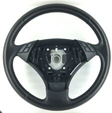 Genuine BMW E60 5 Series black leather mfsw steering wheel, switches. SE LCI 15D