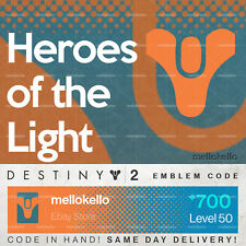 Destiny 2 Heroes of the Light emblem IN HAND!! SAME DAY DELIVERY!!!