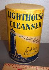 Unopened Lighthouse Cleanser canister Lightens housework 14 oz Lemon Odor