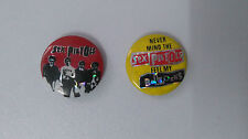 Sex Pistols Sid Vicious RARE music buttons set vintage SMALL BUTTON