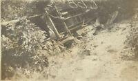 1910s Overturned Antique Farm Truck Wreck West Virginia Kentucky Antique Photo