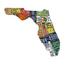 Plasma Cut Steel Florida License Plate Map Sign Metal Sign Sunshine State Decor