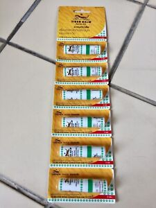 Tiger Balm Inhaler To Relieve Nasal Congestion Due To Cold Oil Stick 6 Pcs.