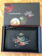 👠Coach Wizard Of Oz Black Leather Wristlet. Limited Edition