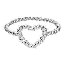 Twisted Style Rope Band Heart Ring Cheap Engagement Wedding Ring Women Jewelry