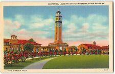 Baton Rouge - Louisiana State University, Campanile - 1946 Teich Linen Postcard